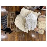 Vintage Curtains, Table Cloths, Rug