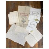 Davis Seed Burlap Sack, Assorted Sacks And