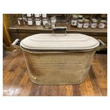 Galvanized Tub With Lid 24 Inches