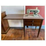 Sears Kenmore Sewing Machine And Cabinet