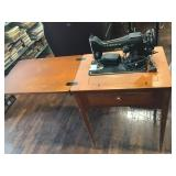 Singer Sewing Machine And Table Model Ba3-8
