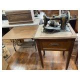 Simmons Sewing Machine And Cabinet