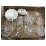 Clear Pressed Glassware, Japan Handled Dish