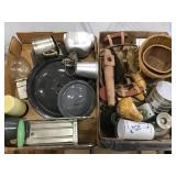Can Crusher, Enamel Lids, Assorted Items