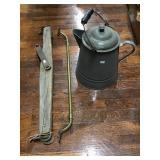 Brass Towel Rack, Granite Coffee Pot, Single Tree