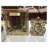 John F Kennedy Picture In Lighted Frame, Brass