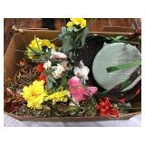 Basket, Silk Flowers