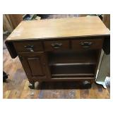 Drop Leaf Cabinet 35x18x31 On Casters