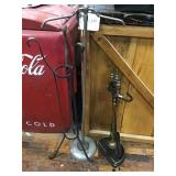 Fireplace Tools, Garment Stand Wrought Iron Plant