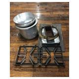 Aluminum Pans, Stove Grates