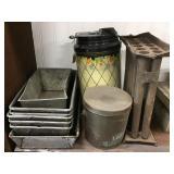 Candle Molds, Baking Pans, Dispenser, Lard Tin