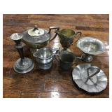 Aluminum And Silver Plate Serving Ware