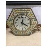 Mcm Mosiac Ge Clock 8 Inch Cracked