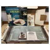 Corning Ware 9 Inch Pie Pan, Salmon Hot Tray