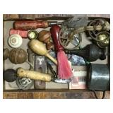 Tin Mug, Carpet Knife, Knobs, Mini Boat Anchor