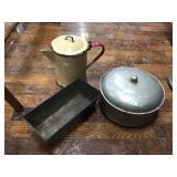 Bread Pan, Aluminum Pot With Lid, Kettle