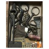 Horse Bits, Curry Comb, Tools