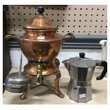 Copper Tea Pot And Aluminum Pot
