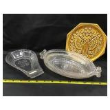Paneled Forget Me Not Dish, Celery Dishes, Hot