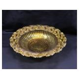 Amber Glass Bowl 9.5 Inches