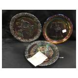Fenton Carnival Glass Plates