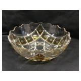 8 Inch Clear Etched Glass Bowl