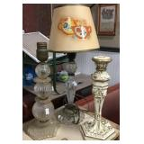 Candle Holder, Table Lamps