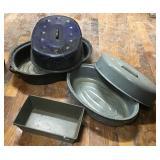 Bread Pan And Granite Roaster, Enamel Roaster