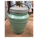 Green Glass Jar With Lid