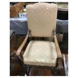 Armed Side Chair Seat Has Wear