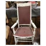 Painted Rocker Seat Has Wear