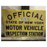 New York Inspection Sign