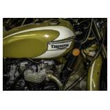 Triumph Motorcycle Gold/White