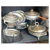Silver Colored  Serving Pans