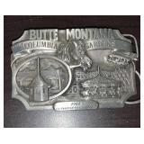 Butte Montana Belt Buckle