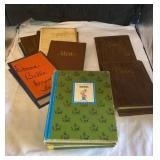 Vintage menus and books