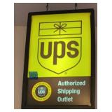 UPS Lighted Sign