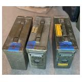 Three Small Ammo cans