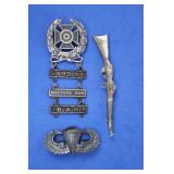 WWII Sterling Silver US Army Badge