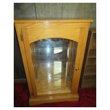 Locking Glass and Wood Cabinet