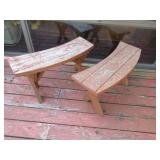 Two Outdoor Benches