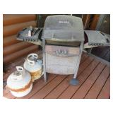 Propane Grill with Two Tanks