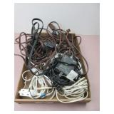 Box of Drop Cords and Misc. Electronic Cords