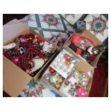 Three Boxes of Christmas Decor