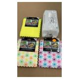 (3) 2pks micro fiber dish cloths & 100ct baby wipe