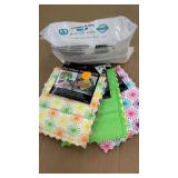 (3) 2 packs microfiber cloths & 100ct baby wipe