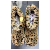 Cheetah house slippers