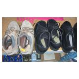 3 pair of shoes size 8.5,9,8 & pillow cases