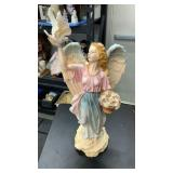 Tall ceramic angel
