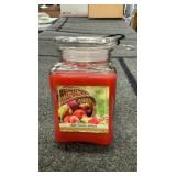 Farm stand apples candle